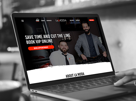 La Moda Barbershop Website