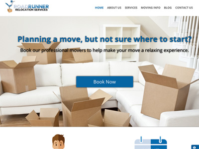 Roadrunner Relocation Services Website