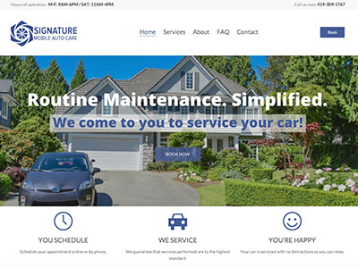 Signature Mobile Auto Care Website