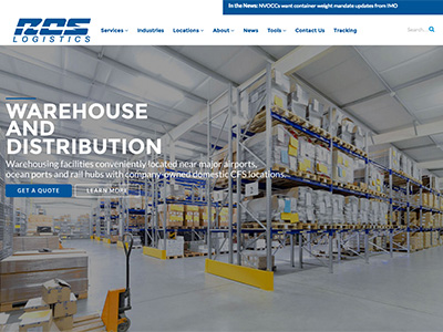 RCS Logistics Website Design