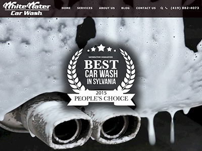 White Water Car Wash Website