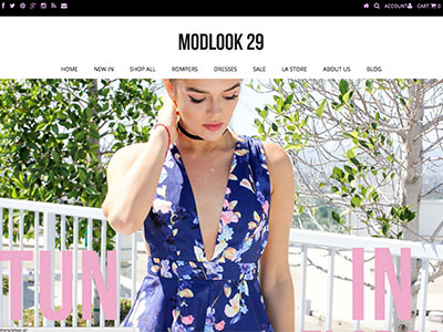 Modlook 29 Website
