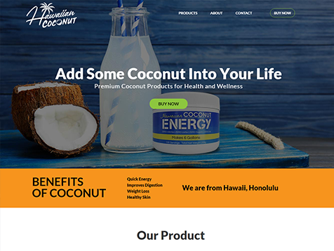 Hawaiian Coconut Website